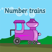 Number trains icon