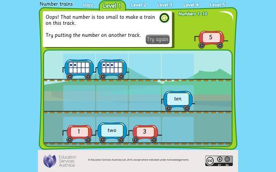 Number trains apk screenshot