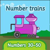 Number trains: numbers 30-50 icon