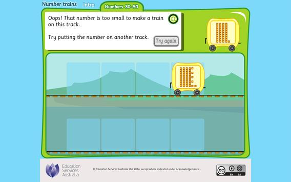 Number trains: numbers 30-50 poster