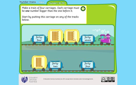 Number trains: numbers 30-50 apk screenshot