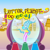 Letter planet: oo, ee, ai icon