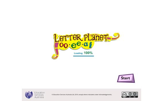 Letter planet: oo, ee, ai poster