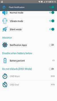 Flash on SMS/CALL/APPS apk screenshot