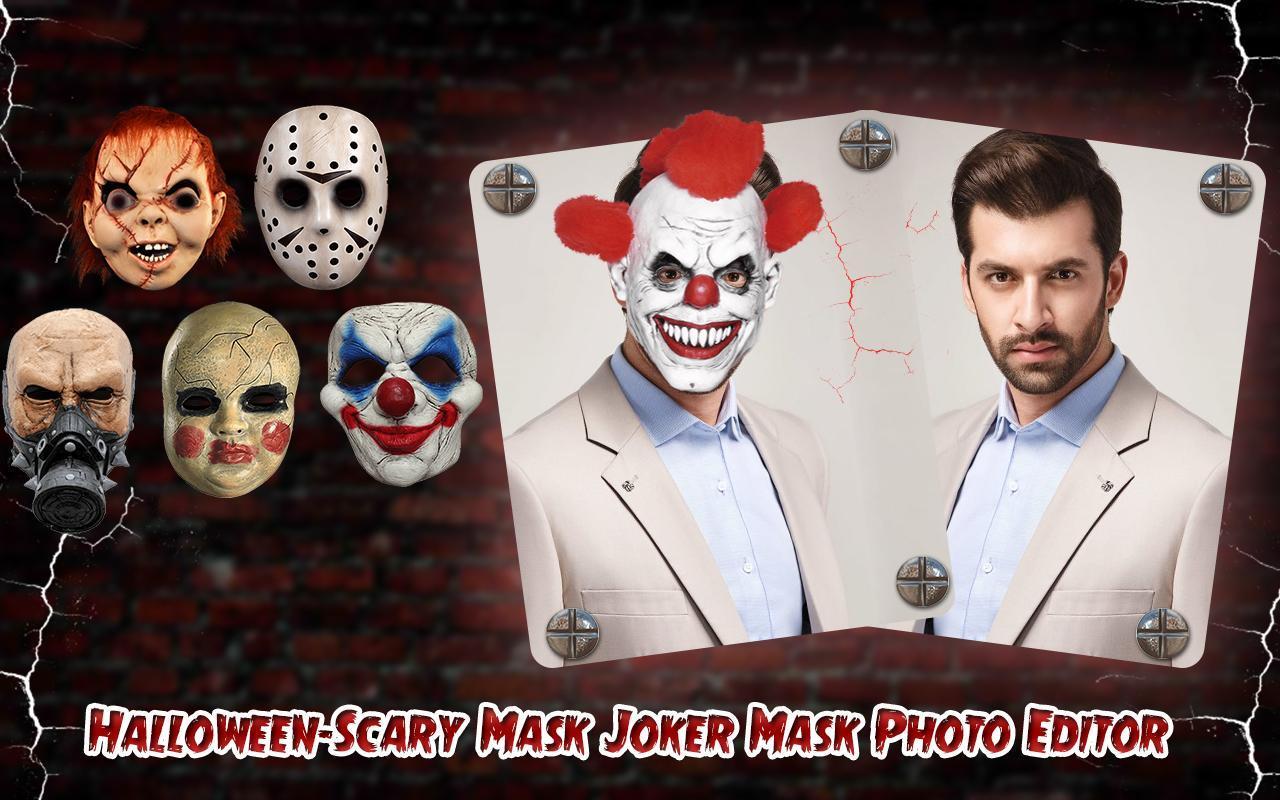 ... Halloween-Scary Mask Joker Mask Photo Editor screenshot 16 ...