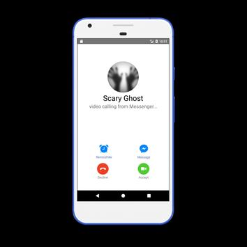 Video Call From Scary Ghost apk screenshot