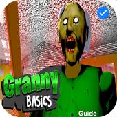 Scary Baldi Granny Horror Free Games Guide icon