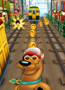 Subway scooby jump dog poster