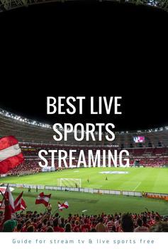 Guide for stream TV & live sports free screenshot 4