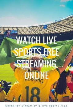Guide for stream TV & live sports free screenshot 2