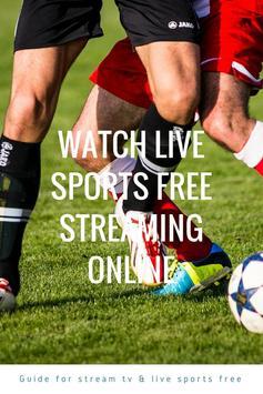 Guide for stream TV & live sports free screenshot 3