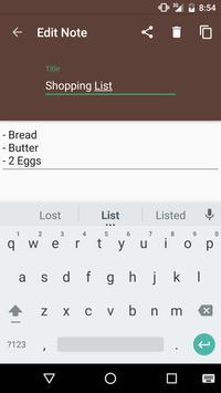 Leafpad - Notes apk screenshot