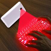 Hologram 3D keyboard simulator icon