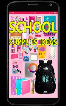 DIY School Supplies Ideas poster