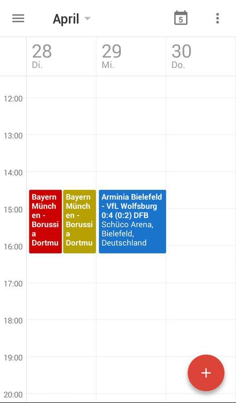 bundesliga kalender android