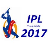 Timetable for IPL 2017 icon