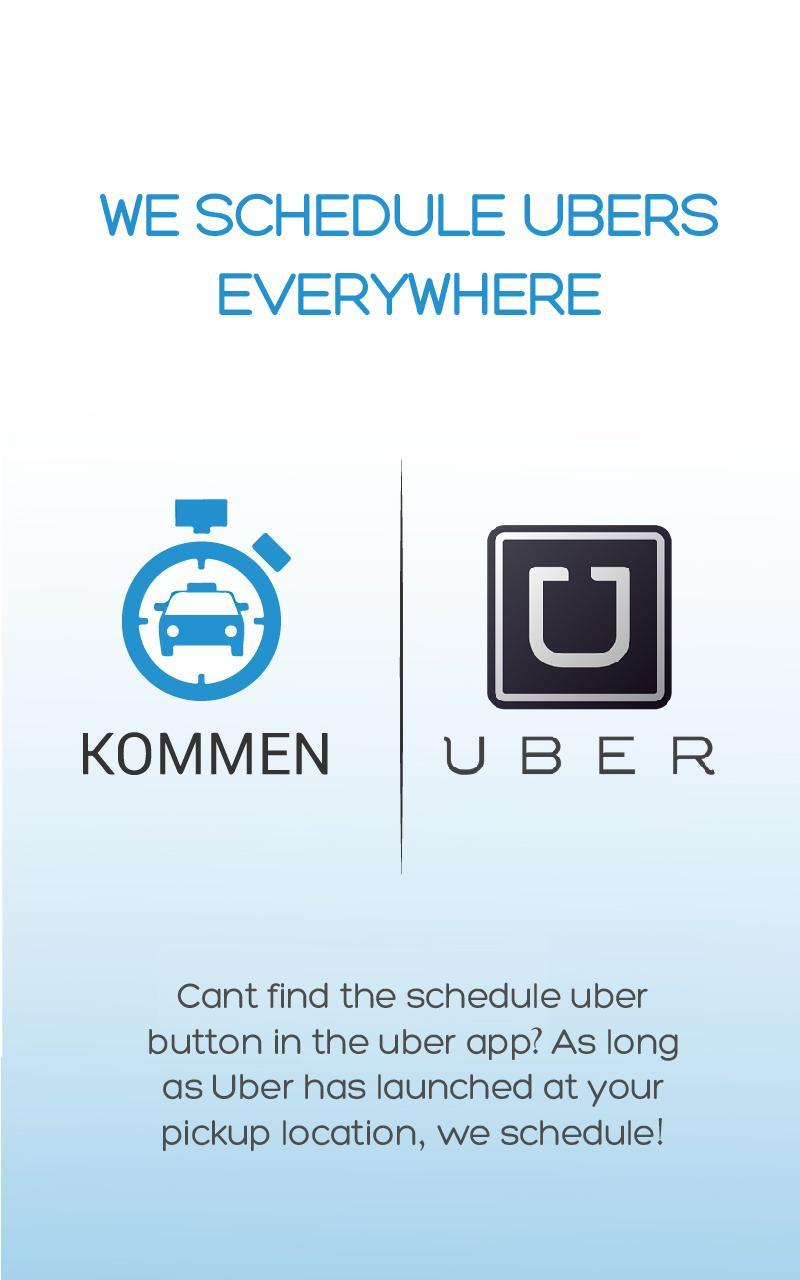 Schedule Your Ride with Kommen for Android - APK Download