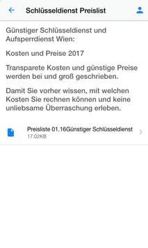 Schlüsseldienst Wien apk screenshot