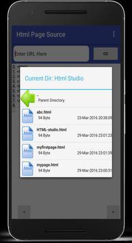 HTML Page Source apk screenshot