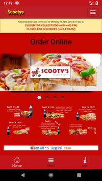 Scootys Pizza BD7 poster