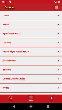 Scootys Pizza BD7 screenshot 1
