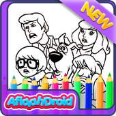 Kids Coloring Scooby Dog icon