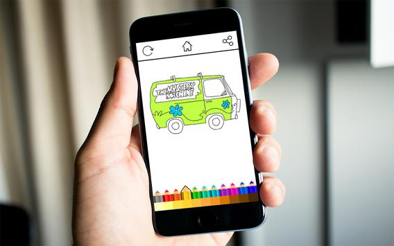 Kids Coloring Scooby Dog apk screenshot