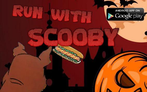 halloween scooby dog run poster