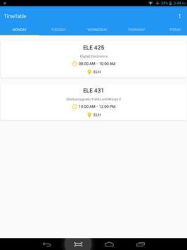 Timetable apk screenshot