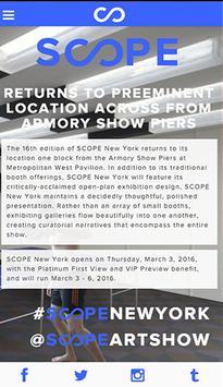 SCOPE New York poster