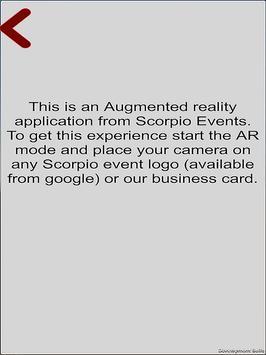 Scorpio Events AR apk screenshot