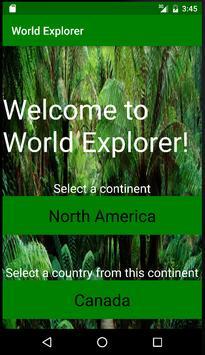 World Explorer App poster