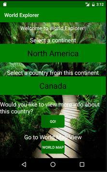 World Explorer App screenshot 1
