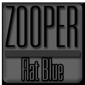 Flat Blue - Zooper Widget Pro icon