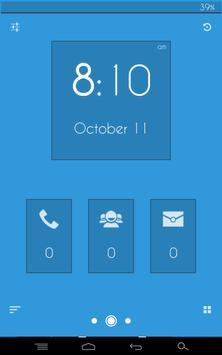 Flat Blue - Zooper Widget Pro screenshot 4