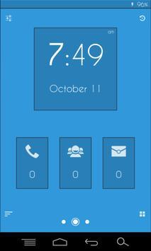 Flat Blue - Zooper Widget Pro screenshot 1