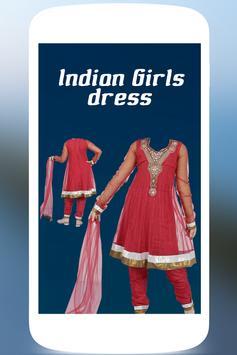 Indian Girls photo dress poster