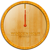 Wooden hour - Scoubo clock icon