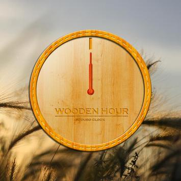Wooden hour - Scoubo clock poster