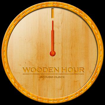 Wooden hour - Scoubo clock screenshot 1