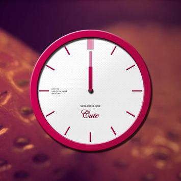 Cute - Scoubo clock poster