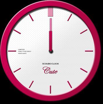 Cute - Scoubo clock screenshot 1