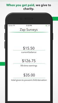 Zap Surveys apk screenshot