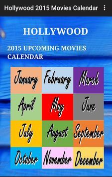 Hollywood Calendar 2015 poster