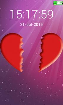 love heart screen lock code poster