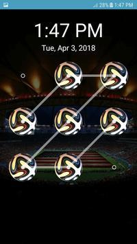 Screen Lock Football Pattern screenshot 3