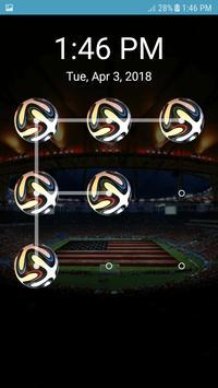 Screen Lock Football Pattern poster