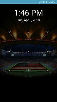 Screen Lock Football Pattern screenshot 1