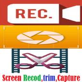 Record Screen Video Audio Foto Trim icon