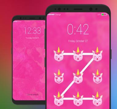 Pony Lock Screen Little UNICORN Emoji screenshot 4